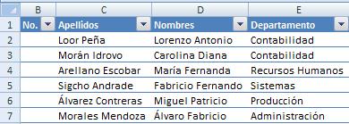 Auto-numerar registros en Excel