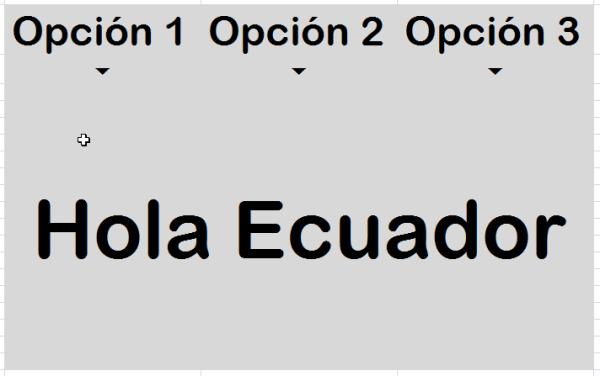 Efecto MouseOver en Excel