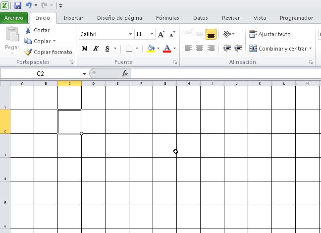 Cómo hacer una cuadrícula en Excel