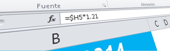 La barra de fórmulas de Excel