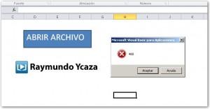 Abrir un archivo con macros