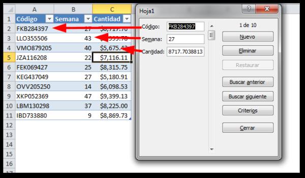 Cómo crear formularios en Excel 2010