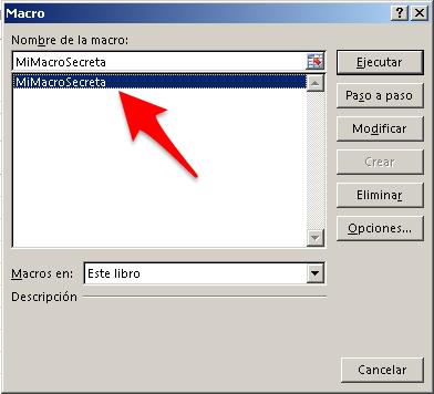 Esconder macros en Excel