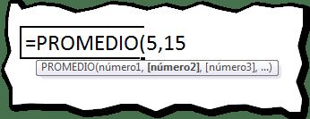 La función Promedio en Excel