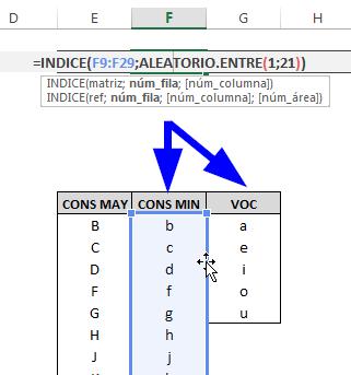 Generador de contraseñas en Excel