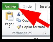 La cinta de opciones de Excel