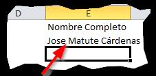 La función Concatenar en Excel