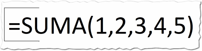 Argumentos en Excel